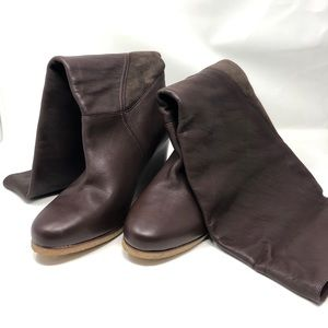 Uggs, Wedged leather boots (U.S Women's 12)